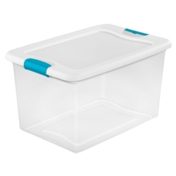 DONATION OPPORTUNITY! Clear Plastic Storage Bins