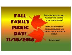 Fall Family Picnic Day