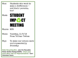 Student Impact Meeting Announcement
